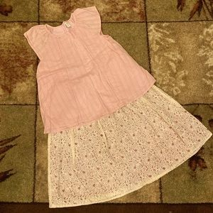 Girls Gymboree Blouse and Skirt Outfit Set of 2